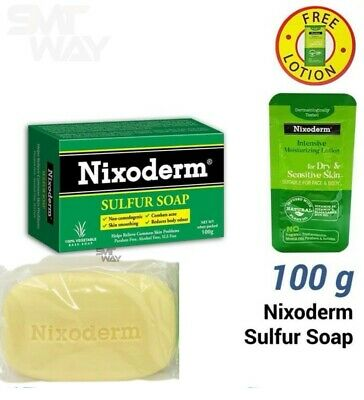 £13.90 • Buy NIXODERM Sulfur Soap For Relieve Common Skin Problems 100% Vegetable Base (100g)