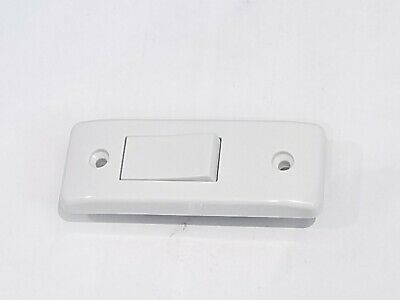 £5.45 • Buy ARCHITRAVE Light Switch 10A 1 Gang Single White Plastic 1 Or 2way With Back Box