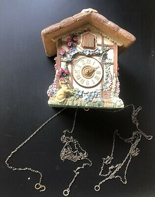£30 • Buy Spare/Repairs THE FRANKLIN MINT - THE COUNTRY COTTAGE HEIRLOOM CUCKOO CLOCK