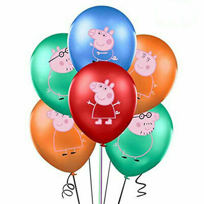 £2.79 • Buy PEPPA PIG  Multicolour 12  Latex Party Balloons Peppa George Mummy & Daddy Pig