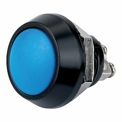£5 • Buy R-TECH 524572 12mm IP65 Vandal Resistant Switch SPST Off-On Blue Button