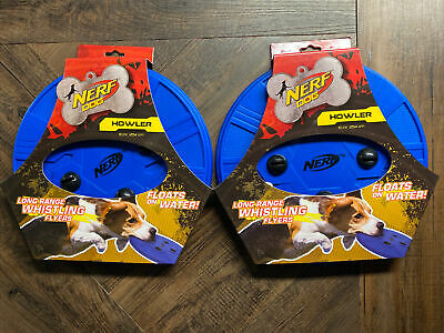 £12.37 • Buy Set Of 2 NERF Dog Atomic Howler Whistling Flyer Toy Disc 10in Floats In Water