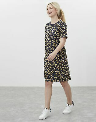 £15.95 • Buy Joules Womens Liberty Print A Line Jersey Dress - Navy Yellow Floral