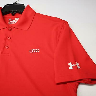 £20.70 • Buy Men Under Armour Heatgear Loose Fit Red Golf Polo Shirt Size Small Audi Racing