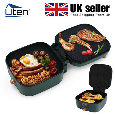 £44.99 • Buy UTEN Folding Cooker Electric Grill Frying Pan Oven 2IN1 Non-stick Hot Pot BBQ