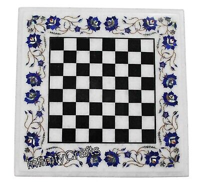 AU847.12 • Buy 24 Inches Marble Coffee Table Top Check Design Inlaid Chess Board Table For Kids
