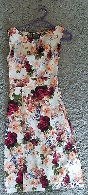 £15 • Buy Hearts And Roses Flower Wiggle Dress - UK10