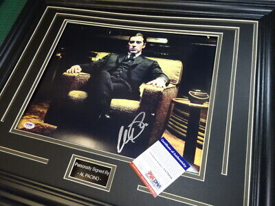 £439 • Buy Al Pacino Signed - The Godfather Film Poster ** COA **PSA/DNA WITNESSED**