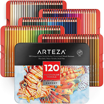 £42.78 • Buy Arteza Professional Watercolour Pencils For Adults, Set Of 120 Watercolour For &