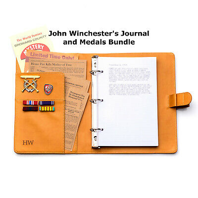 £72.14 • Buy New Supernatural John Winchester Journal Replica And Medals Bundle Pre-order
