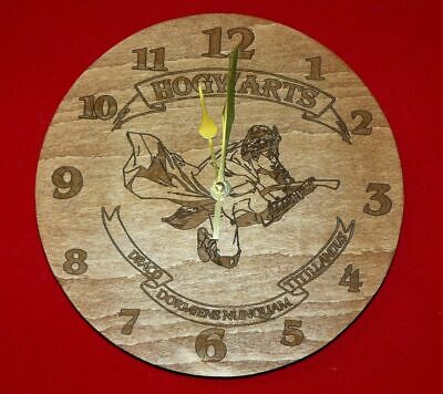 £14 • Buy Harry Potter Wood Engraved Wall Clock Great Gift