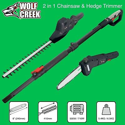 £139.95 • Buy Electric 2-in-1 Telescopic Long Reach 500W Hedge Trimmer 710W Pole Saw Pruner