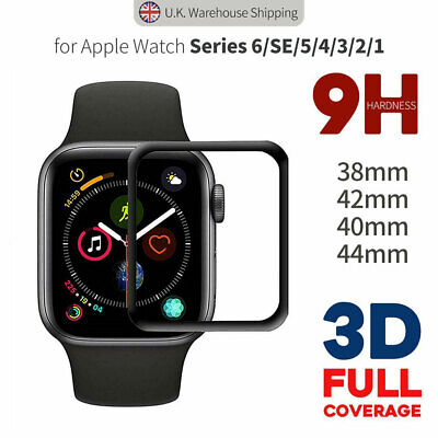 £3.25 • Buy Apple Watch Screen Protector Tempered Glass Series 6 SE 5 4 3 2 1 38 40 42 44mm