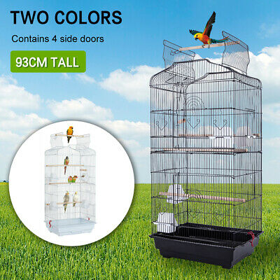 £32.99 • Buy Large Metal Bird Cage Budgie Canary Cockatiel Finch Lovebird Open Top Pet Cage