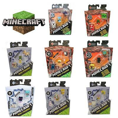 £9.99 • Buy Minecraft 3  Packs Mini Action Figures Collectibles Toys Action Figures Mattel