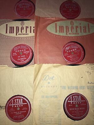 """£38.77 • Buy Imperial 4Star 78 Lot Of 6 Records 10"""" Country Hillbilly"""