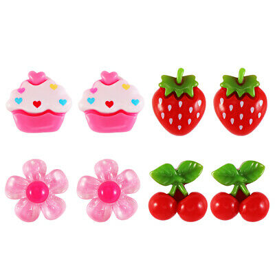 £3.62 • Buy YeahiBaby 4 Pairs Clip-on Earrings Ear Clip Earring Pretend Toy For Kids