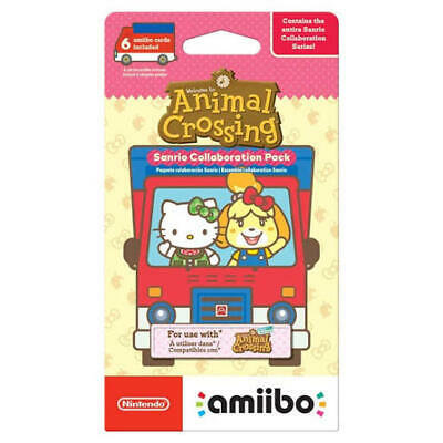 AU20 • Buy Animal Crossing Sanrio Collaboration Cards 6 Pack Genuine Amiibo Pack In Stock!