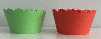 £1.99 • Buy 24 Pack Green & Red,Cupcake Case Wraps,Wrappers,Decoration,Birthday,Christmas