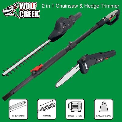 £139.95 • Buy  Hedge Trimmer Chainsaw  2 In 1  Multi Tool Telescopic Pole Pruner  Electric