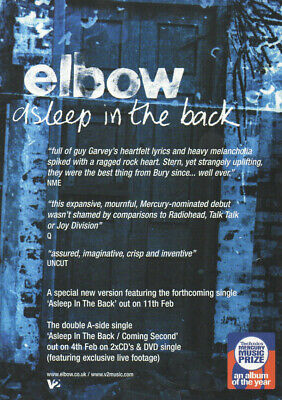 £3.99 • Buy Elbow - Asleep In The Back - Full Size Magazine Advert