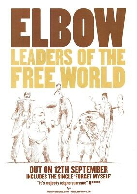 £3.99 • Buy Elbow - Leaders Of The Free World - Full Size Magazine Advert