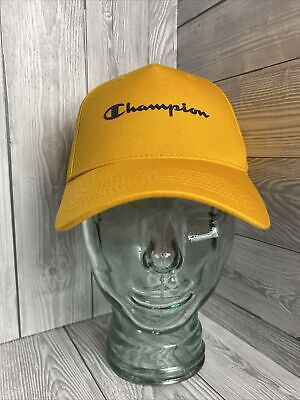 £9.99 • Buy Unisex Champion Spell Out Baseball Cap Hat ONE SIZE Yellow BRAND NEW