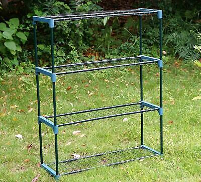 £17.49 • Buy New 4 Tier Flower Plant Staging Display Greenhouse Racking Shelving Unit
