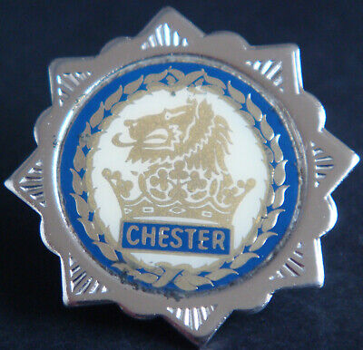 £14 • Buy CHESTER CITY FC Vintage 80s 90s Insert Type Badge Brooch Pin In Chrome 33mm Dia