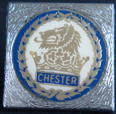 £14 • Buy CHESTER CITY FC Vintage 80s 90s Insert Type Badge Brooch Pin In Chrome 26mm Dia