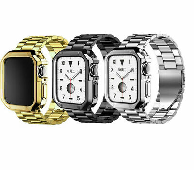 AU19.99 • Buy Case + Band Metal Strap Wristband For Apple Watch Band Series SE 6 5 4 3 2 1