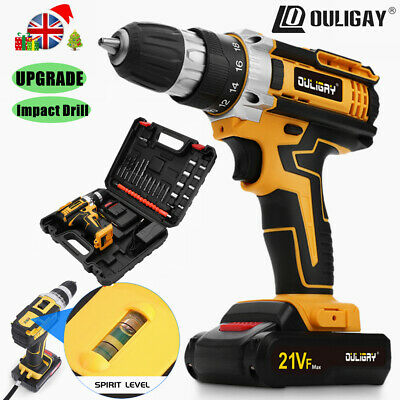 £26.89 • Buy UPGRADE 21V Cordless Impact Drill Set Driver Screwdriver Lithium Ion Fast Charge