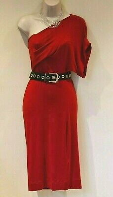 £139.99 • Buy Vivienne Westwood Anglomania One Shoulder Draped Jersey Dress Size S UK 8 10