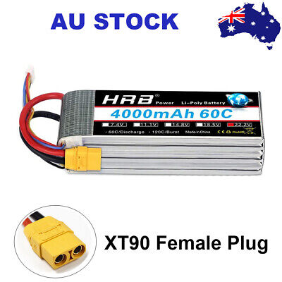 AU88.86 • Buy HRB 4000mAh 6S 22.2V XT90 60C LiPo Battery For RC Airplane Car Boat Drone Truck