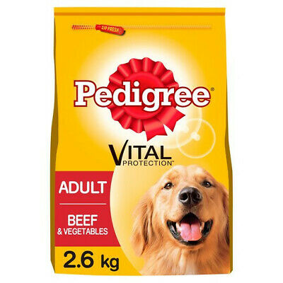 £27.99 • Buy Pedigree Dry Food For Adult Dogs With Beef & Vegetable 3 Bags (3 X 2.6 Kg)