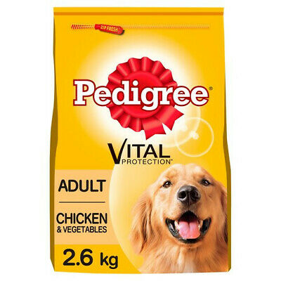 £27.99 • Buy Pedigree Dry Food For Adult Dogs With Chicken & Vegetable 3 Bags (3 X 2.6 Kg)