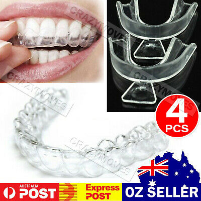 AU8.94 • Buy 4x Teeth Whitening Mouth Trays Custom Self Mould Thermo Plastic Clear Guards MEL