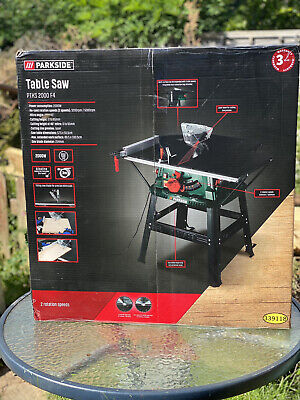 £195 • Buy Brand New Unopened Parkside Bench Table Saw PTKS 2000 F4; 5000 RPP