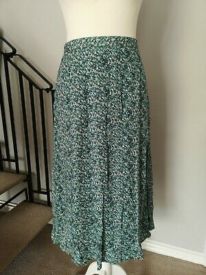 £4.15 • Buy Cotswold - Ladies Size 14 Floral Spring Summer Long Green Mix Floral Skirt L31 .