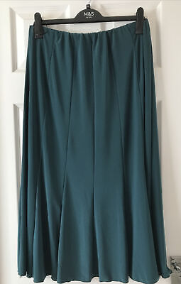 £6.99 • Buy NWT Ladies Forever By Michael Gold Size Xl Elasticated Green Lined  Skirt