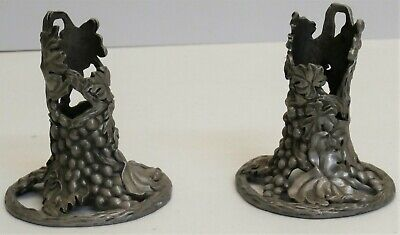 £14.99 • Buy  Vintage Candle Holders Grapes Design - Seagull Canada Etain Pewter Zinn - 1992