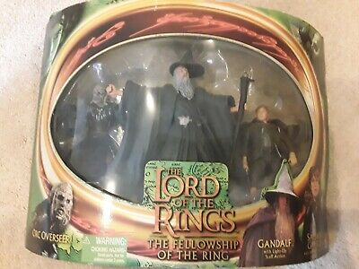 £30 • Buy Lord Of The Rings Figures Toybiz, Gandalf, Samwise Orc, Boxed.