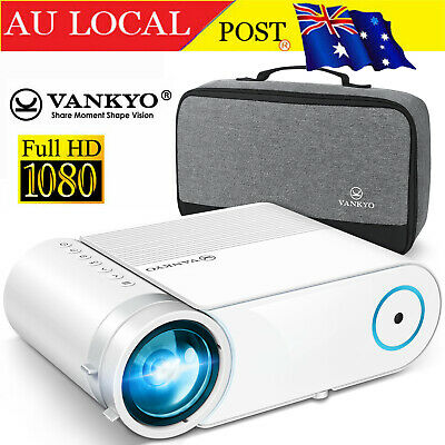AU119.99 • Buy Vankyo LED Projector 200  Display 1080 Support 4000L Home Theater HDMI TV Stick