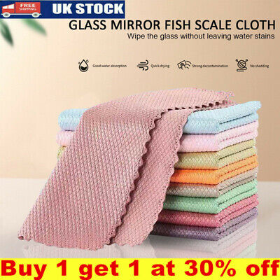 £5.17 • Buy 5/10PCS Nano Scale Streak-Free Miracle Cleaning Cloths Reusable Kitchen Cloths