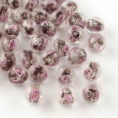 £1.65 • Buy Lumious Beads Glass Rose - 8mm Pack Of 10