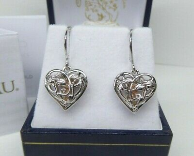 £78 • Buy Clogau Gold, Silver & 9ct Rose Gold Tree Of Life Fairy Heart Drop Earrings