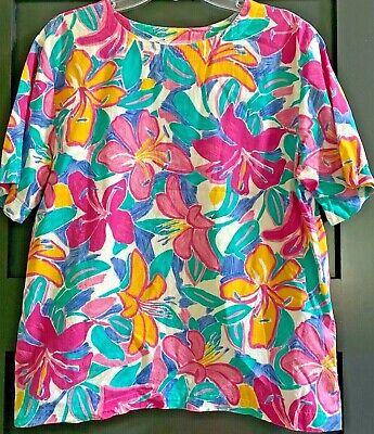 £88.68 • Buy Vintage 80's Rare Art To Wear By Ken Done Size M