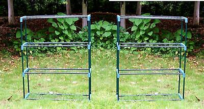 £27.89 • Buy 2x New 4 Tier Flower Plant Staging Display Greenhouse Racking Shelving Unit