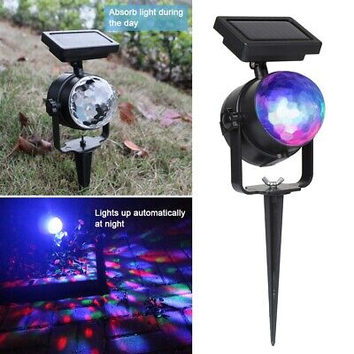£11.99 • Buy Solar LED Spotlight Colour Changing Projection Stake Light Outdoor Party