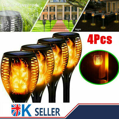 £10.39 • Buy 4PACK LED Solar Flame Torch Garden Lights Outdoor Flickering Path Security Lamp